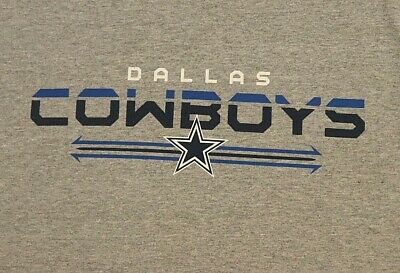 Dallas Cowboys Team Apparel t-shirt S Small Gray NFL Football Texas Sport