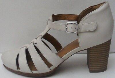 Women's New Clarks Ciera Gull Off White  Shoes/Sandals - Size UK 7 D EUR 41 M