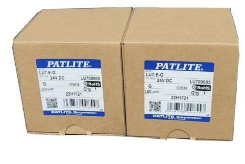 LOT OF 2 NIB PATLITE LU7-E-G LED MODULES GREEN LU7EG 24VDC