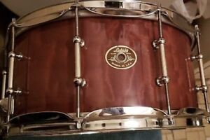 Snare Drum EXOTIC LUDWIG USA Quilted Makore 14x6,5 10-Ply Maple