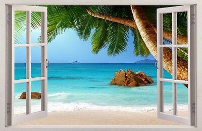 R 3D Tropischen Insel Wand Dekor Aufkleber Wandtattoo 39 (Tropische Wand-dekor)