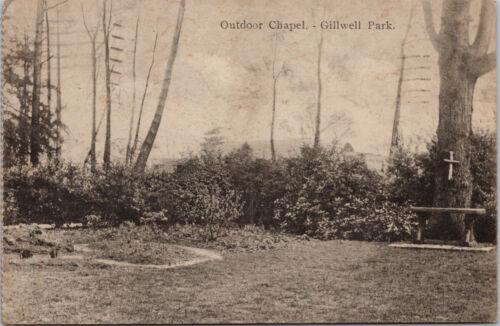 Outdoor Chapel Gillwell Park Boy Scouts c1932 Postcard G85