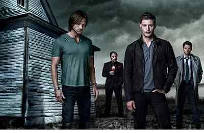 "SUPERNATURAL UK Imported 17"" X 11"" Poster Print  - Sam, Dean, Castiel, & Crowley"