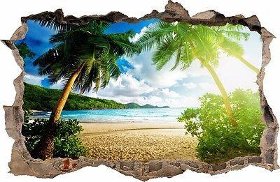 n der Wand 3D Tropischen Insel Dekor Aufkleber Wandtattoo 01 (Tropische Wand-dekor)
