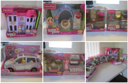 My Loving Family Doll house/furniture/van bundle NEW