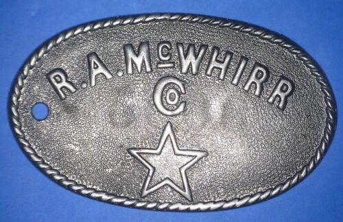 R.A. McWHIRR - FALL RIVER (BRISTOL COUNTY) MASS. - CHARGE COIN #2000 - *78584954