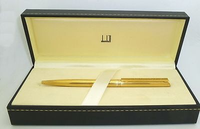 Gold Plated Dunhill Ballpoint Pen with Box