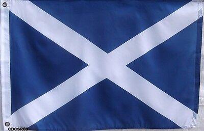 2 X 3 ST ANDREWS FLAG - SAINT ANDREWS CROSS SCOTLAND BANNER - BLUE AND WHITE