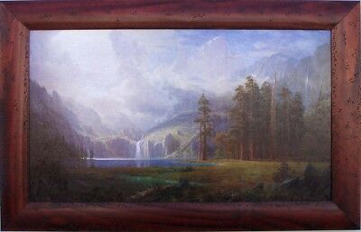 - Albert Bierstadt  Mt Whitney 1875 Custom Framed Canvas Transfer 27 x 42 Wormwood