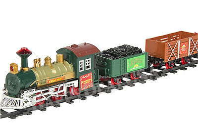 Toy Battery Operated Train Set Tracks Lights and Sound