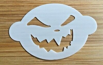 Face painting stencil reusable washable halloween pumpkin  Mylar 2.5 inch x 1.75 - Face Painting Halloween Pumpkin