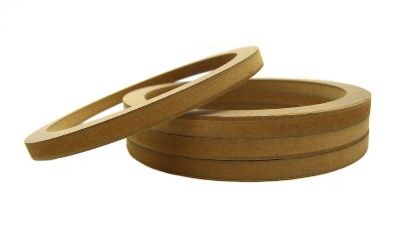 "2 Pair Wood MDF Speaker Spacer Rings 12"" Fiberglass Door Kick Pods 12 Inch"