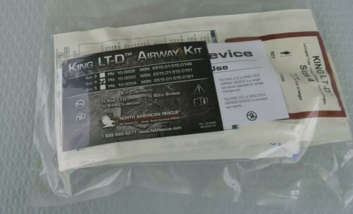 KING LT-D Airway Kit Size 4 North American Rescue 10-0003 NSN 6515-01-515-0151