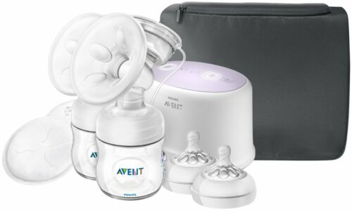 Philips AVENT Double Electric Breast Pump w/ Breastfeeding Accessories