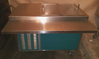 Refrigerated Cart Serving Line Servo-liftpiper Products Cafeteria Reach Cooler