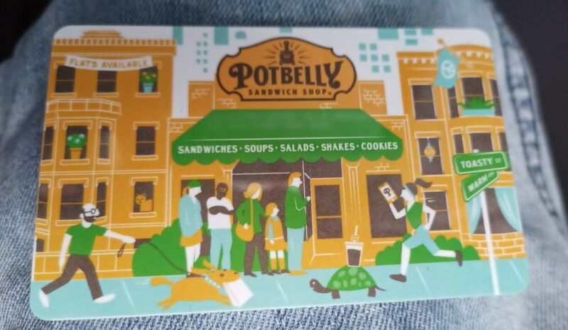 Potbelly Stove  Sandwich Shop, Collectible Gift Card 2016, Collectible Mint, PVC