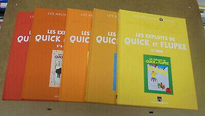 HERGE - QUICK ET FLUPKE - ARCHIVES ATLAS - 5 VOLUMES - 2012/2013 ( TTBE )