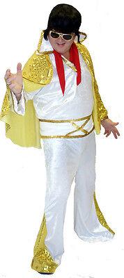 70er Jahre - Deluxe König von Rock And Roll Kostüm Alle HERREN Größen Sml-4XL