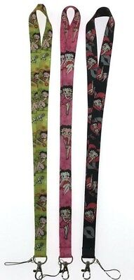Betty Boop Green Lanyard with ID/Badge Strap / Cell Phone Loop & Lobster Clip  - Green Lanyards