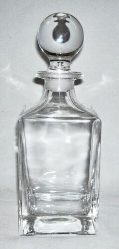 TIFFANY & CO. ~ Solid Crystal Square SPIRIT DECANTER w/Ball Stopper (Classic)