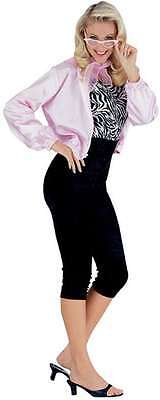 50's Babe Pink Ladies Black Sandy Grease Fancy Dress Up Adult Halloween Costume