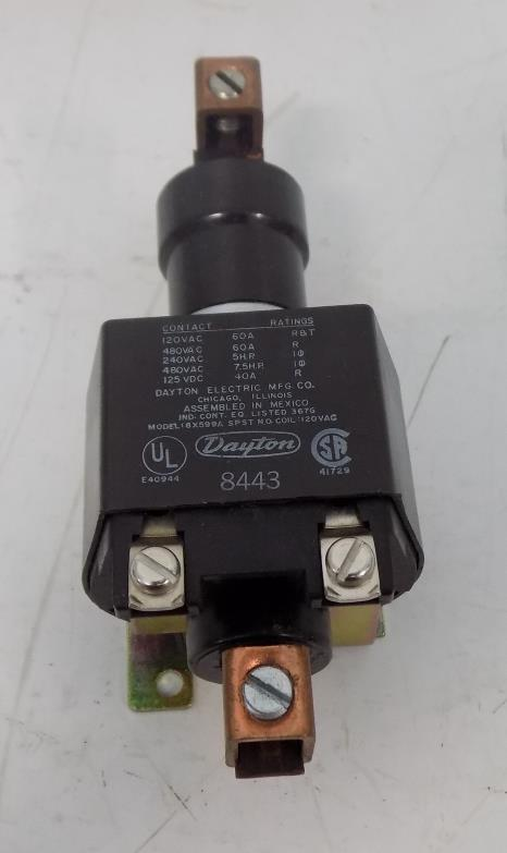 DAYTON 60A 120 VAC CONTACTOR 6X599A