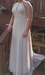 Pale Peach / Salmon Prom / Formal gown fits sz 8-10 $275