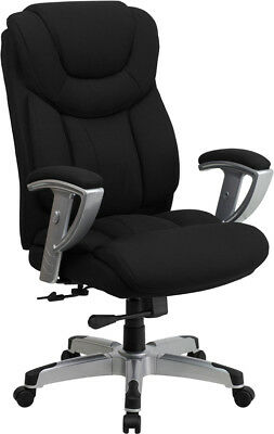 Fabric Executive Desk - Big and Tall Black Fabric Executive Office Desk Chair with Arms 400 Lb Capacity