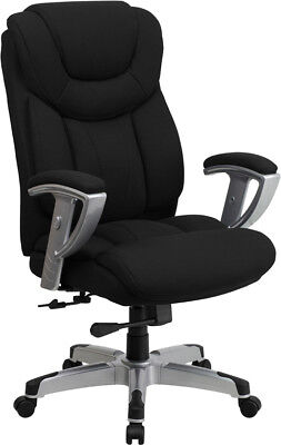 Big and Tall Black Fabric Executive Office Desk Chair with A