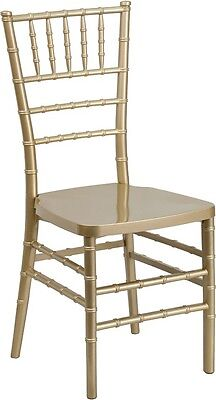 Gold Resin Stacking Chiavari Chair - Commercial Quality Stackable Wedding Chair