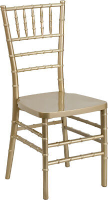 Gold Resin Chiavari Chair - Commercial Quality Stackable Wedding Chair