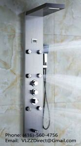 Modern Faucet - 6 ADJUSTABLE JETS THERMOSTATIC SHOWER PANEL