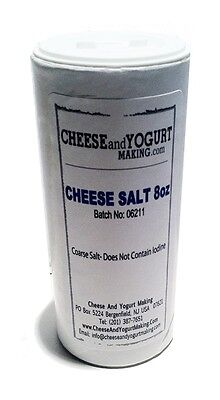 Cheese Salt 8oz- for Cheese Making +FREE SHIPPING +FREE 100+ page recipe ebook