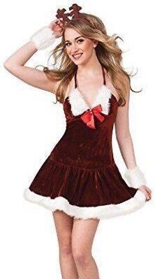 Sexy Women's Mrs. Santa Mini Dress - Christmas Elf Dress - Red & White Holiday - White Elf Dress