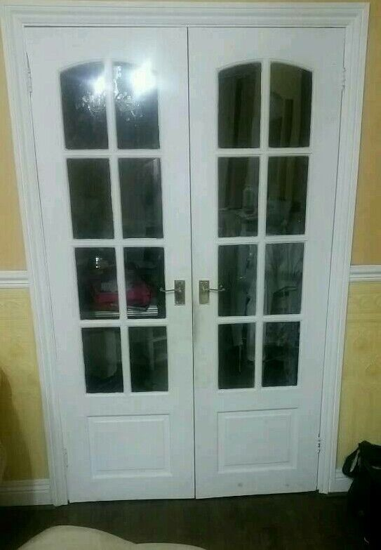 Double Internal French Doors With Glass Panels In Moortown West