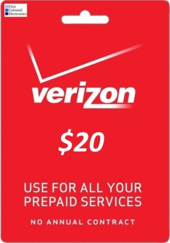 Verizon $20 Refill - Load Directly