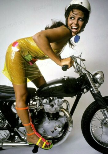 8x10 Print Claudia Cardinale Sexy Pose Aboard Motorcycle #329
