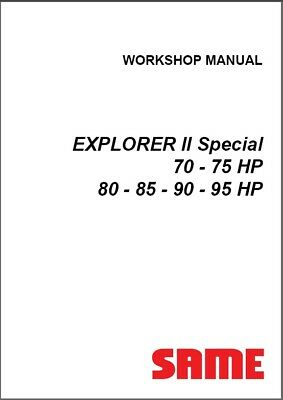 Same Explorer Ii Special 70 75 80 85 90 95 Hp Tractor Service Workshop Manual Cd