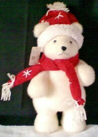 Decorative, Windowsill, SNOWBEAR with HAT & SCARF in Good Condition.