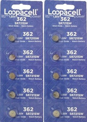 10 362 / 361 Loopacell Watch Batteries SR721SW SR721W