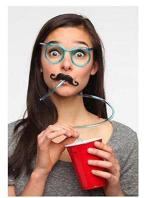 8 packs Novelty Flexible Glasses Silly Drinking Straw Glasses For Kids Party  - Novelty Drinking Glasses