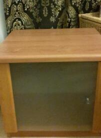 Bedside cabinets solid wood with frosted glass doors and glass shelf