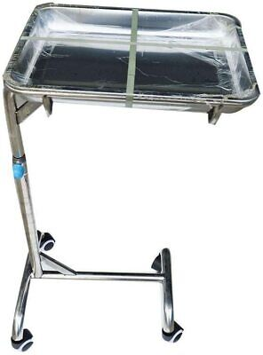 Medical Instrument Mobile Stainless Steel Tray Stand Dental Lab Cart Trolley