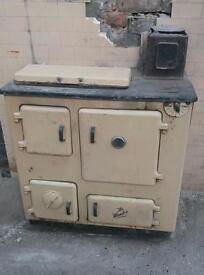 Old Hunter stove for spares parts or garden feature