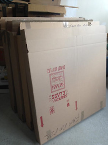 Cardboard boxes and Big Picture frame boxes