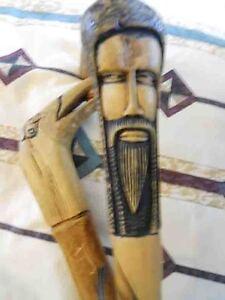 Pair of Hand Carved Walking Canes Belleville Belleville Area image 1