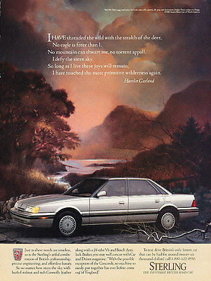 1989 Sterling - Austin Rover Sedan - Vintage Advertisement Ad A25-B