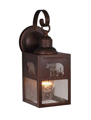 - Burnished Bronze Scone Sconce Wall Lamp Bear Bozeman Vaxcel Light OW35053BBZ