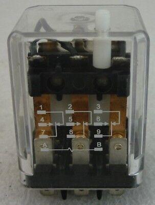 Relay 3PDT, 38 VDC, 10A DWG T-16128-3 MODEL H2023