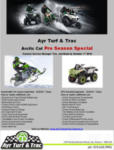 Snow Mobile & ATV Pre Season Inspection Special